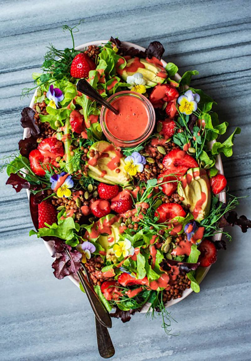 Summer Strawberry Salad by Occasionally Eggs