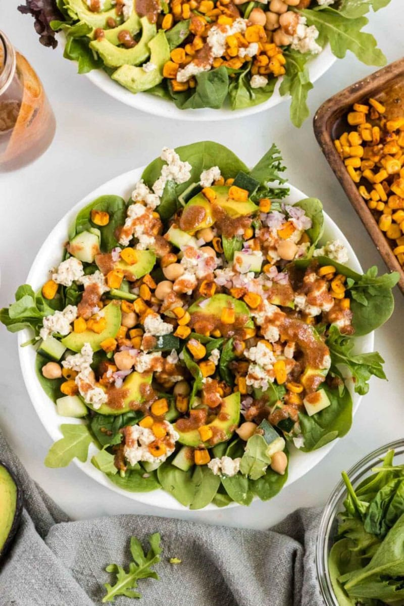 Avocado Corn Salad by Running on Real Food
