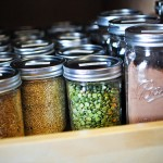 Storing dry goods in jars