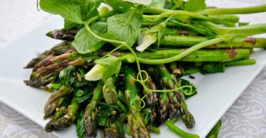 Asparagus, Green Garlic & Pea Tendrils