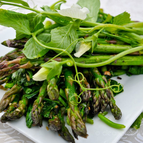 Asparagus, Green Garlic & Pea Tendrils