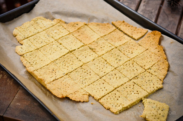 Rosemary crackers baked
