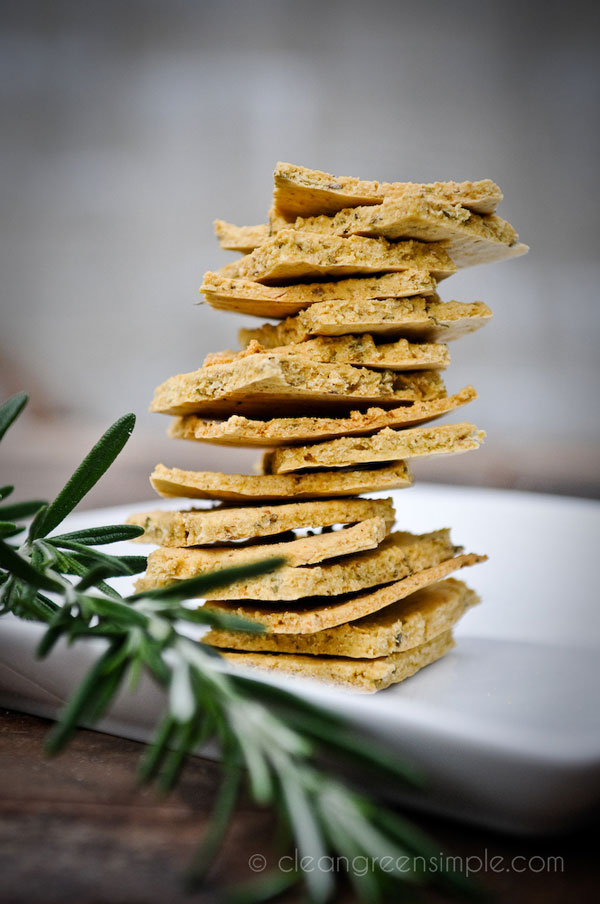 Rustic Rosemary Crackers
