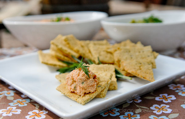 Rosemary Crackers with Pate