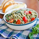 vegan basil walnut kale pesto