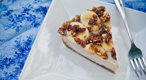 Vegan Thanksgiving Desserts: Frozen Banana Cream Pie