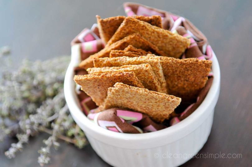 Vegan Flax Crackers