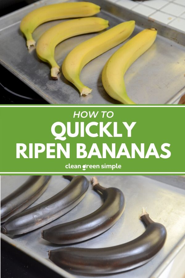 Quickly Ripen Bananas