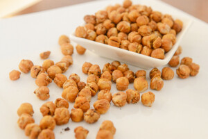 Dry-roasted chickpeas