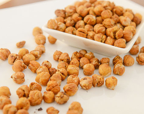 Crispy Dry Roasted Chickpeas Snack No Oil Clean Green Simple