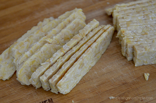 how to slice tempeh for bacon