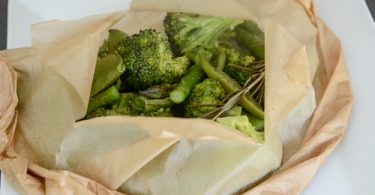 steam vegetables in parchment paper