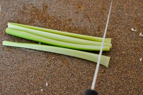 mincing celery