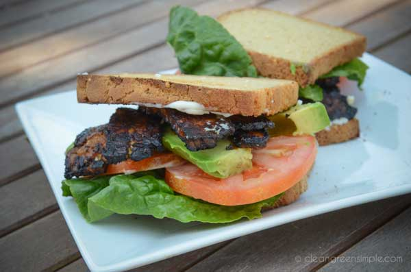 "Vegan BLT with sauteed Tempeh ""Bacon"""