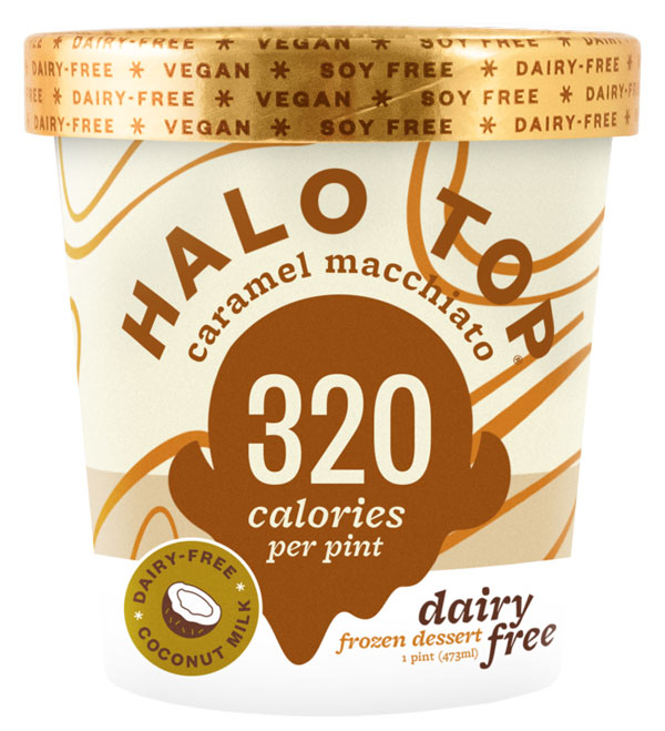 Halo Top Caramel Macchiato Vegan Ice Cream