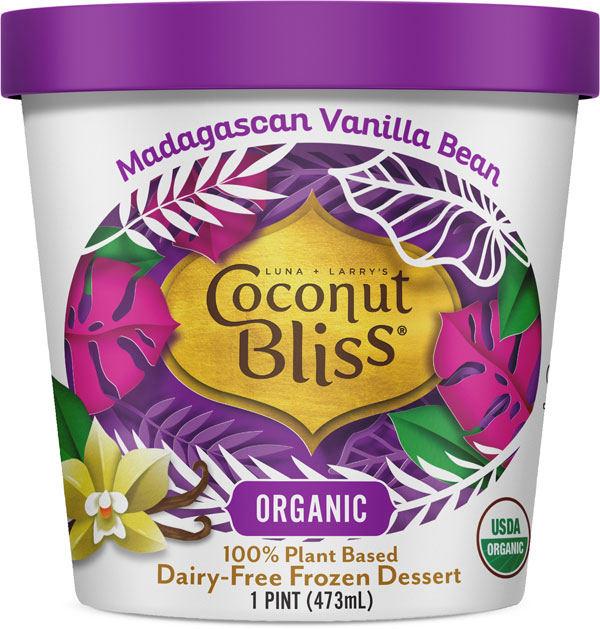 Luna & Larry's Coconut Bliss Madagascan Vanilla Bean Vegan Ice Cream