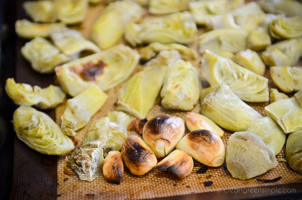 Roasted Artichokes and Garlic