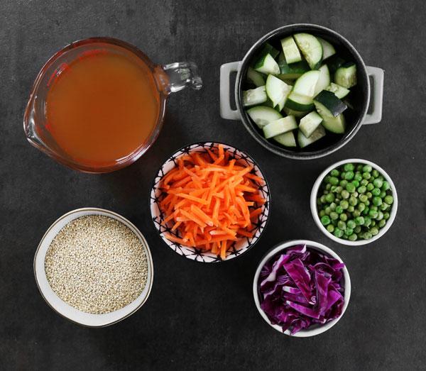Vegan Quinoa Salad ingredients