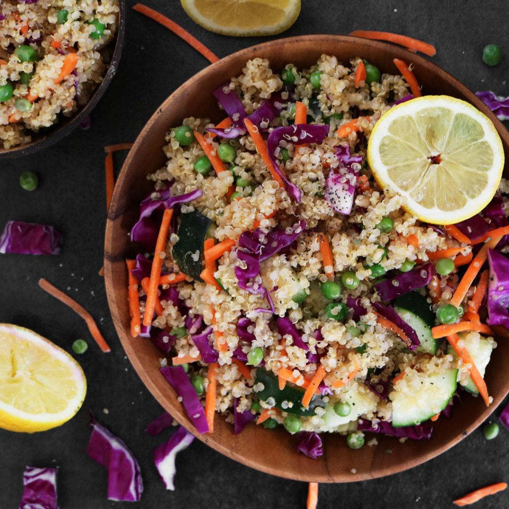 Vegan Quinoa Salad with Lemon Vinaigrette