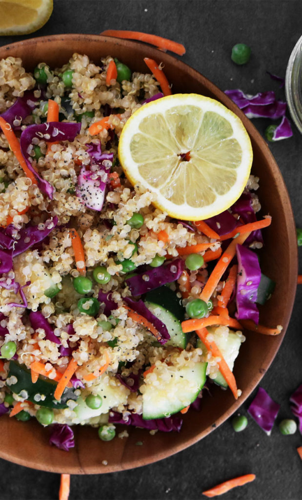 Vegan Quinoa Salad with Lemon Vinaigrette