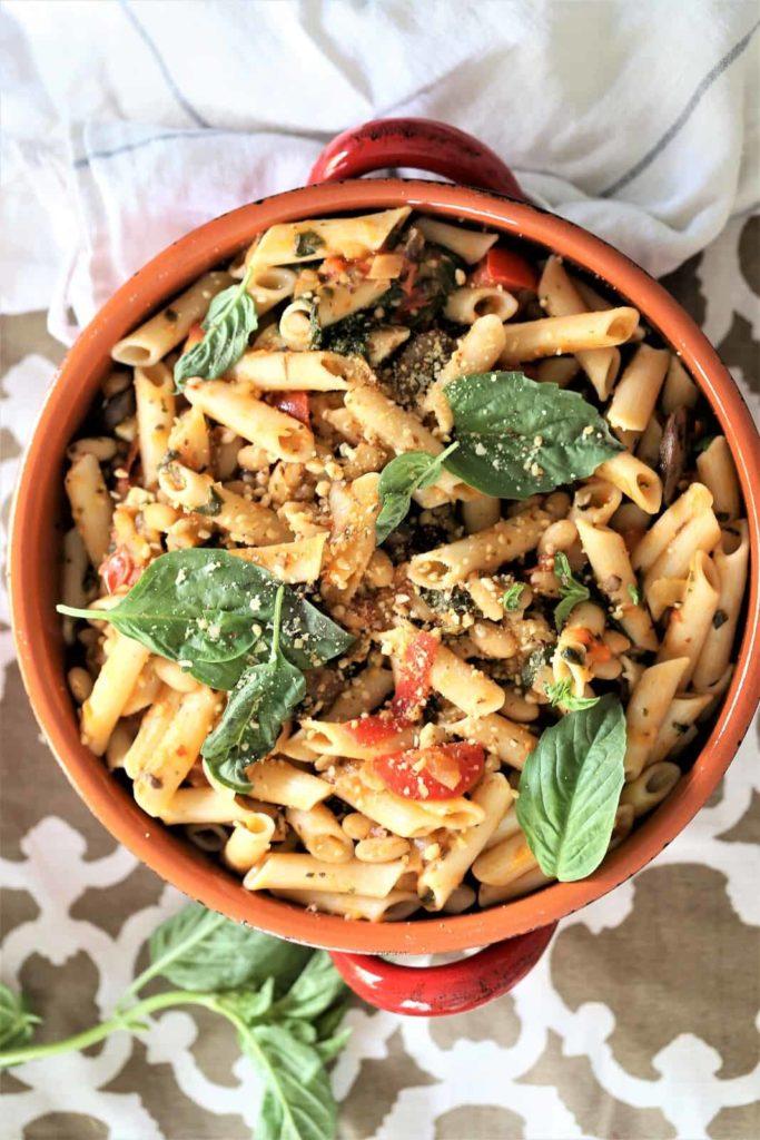Meal prep idea: Instant Pot Spinach Mushroom Pasta