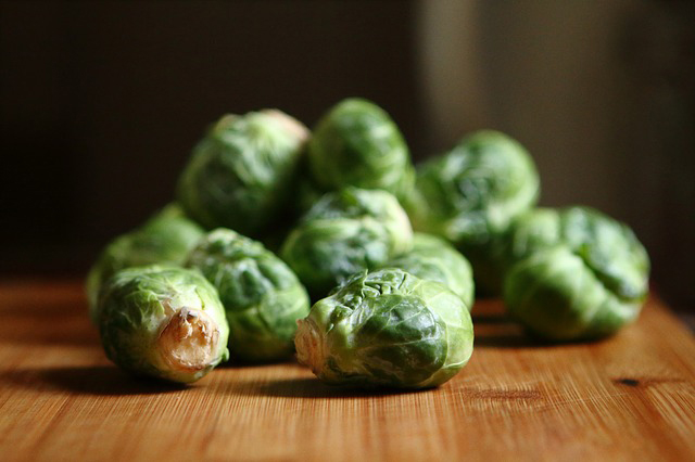plant-based protein sources: brussels sprouts