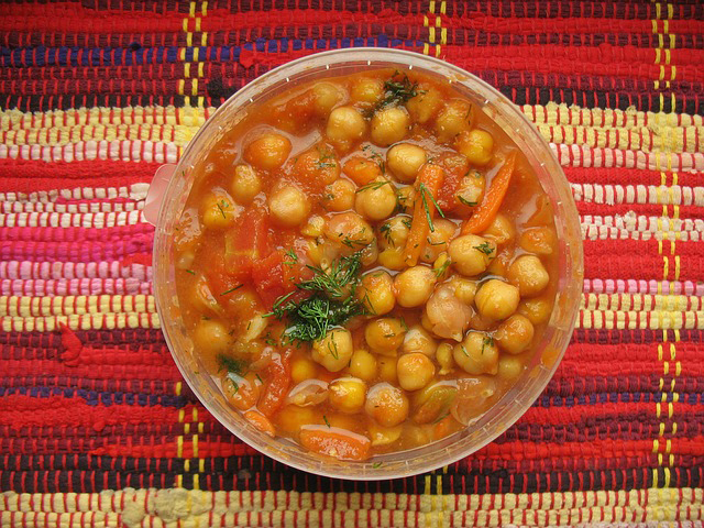 plant-based protein sources: chickpeas