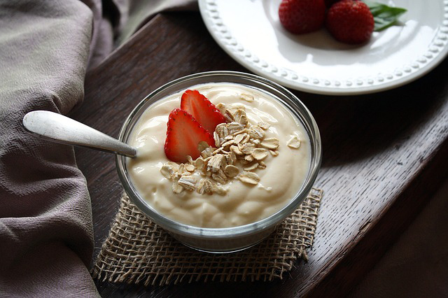 plant-based protein sources: non-dairy yogurt