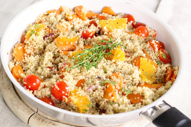 plant-based protein sources: quinoa