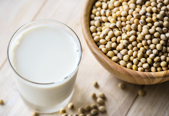 plant-based protein sources: soy milk