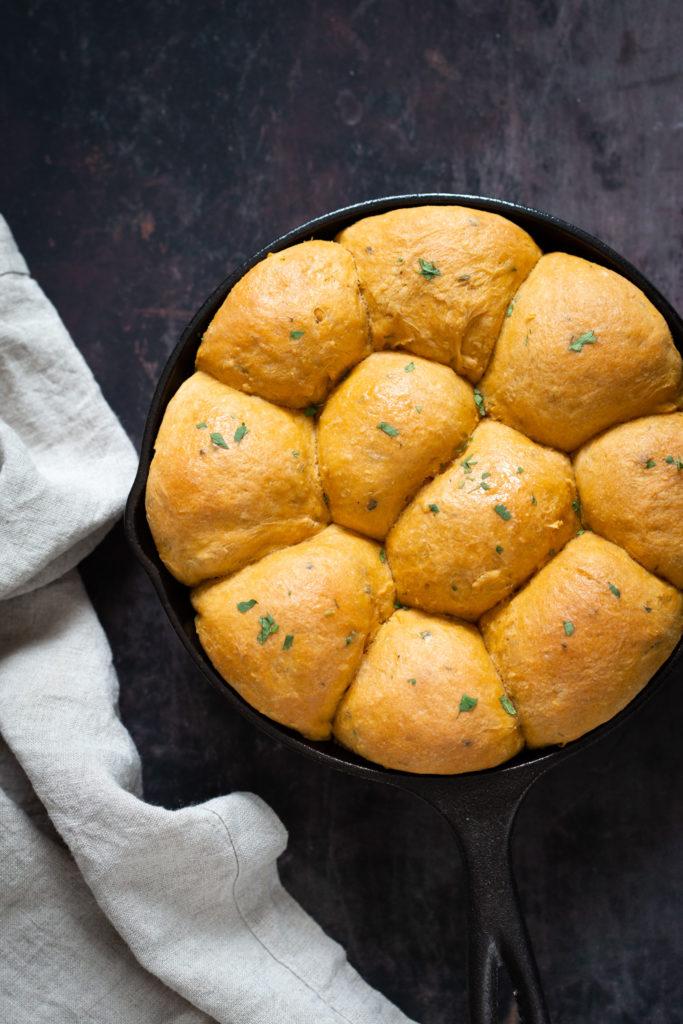 Vegan Thanksgiving Appetizers: Sweet Potato Rolls