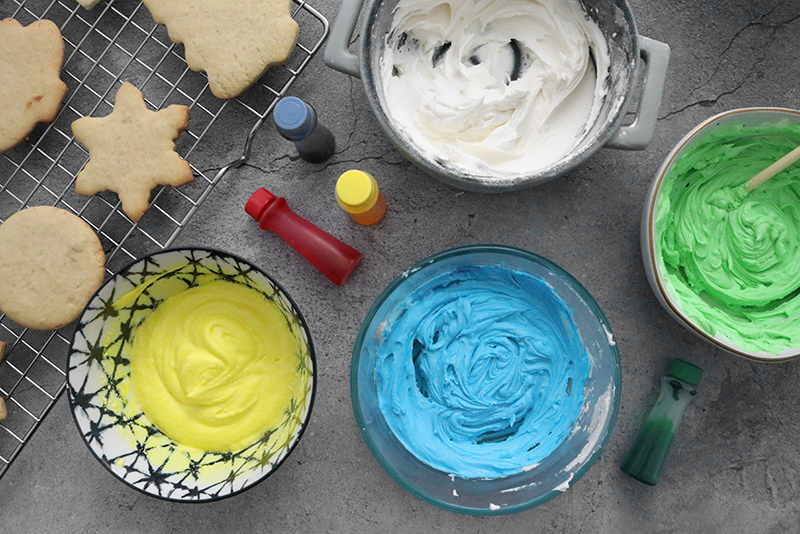 coloring added to vegan icing