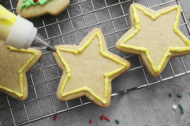 Vegan Sugar Cookies with star decorations