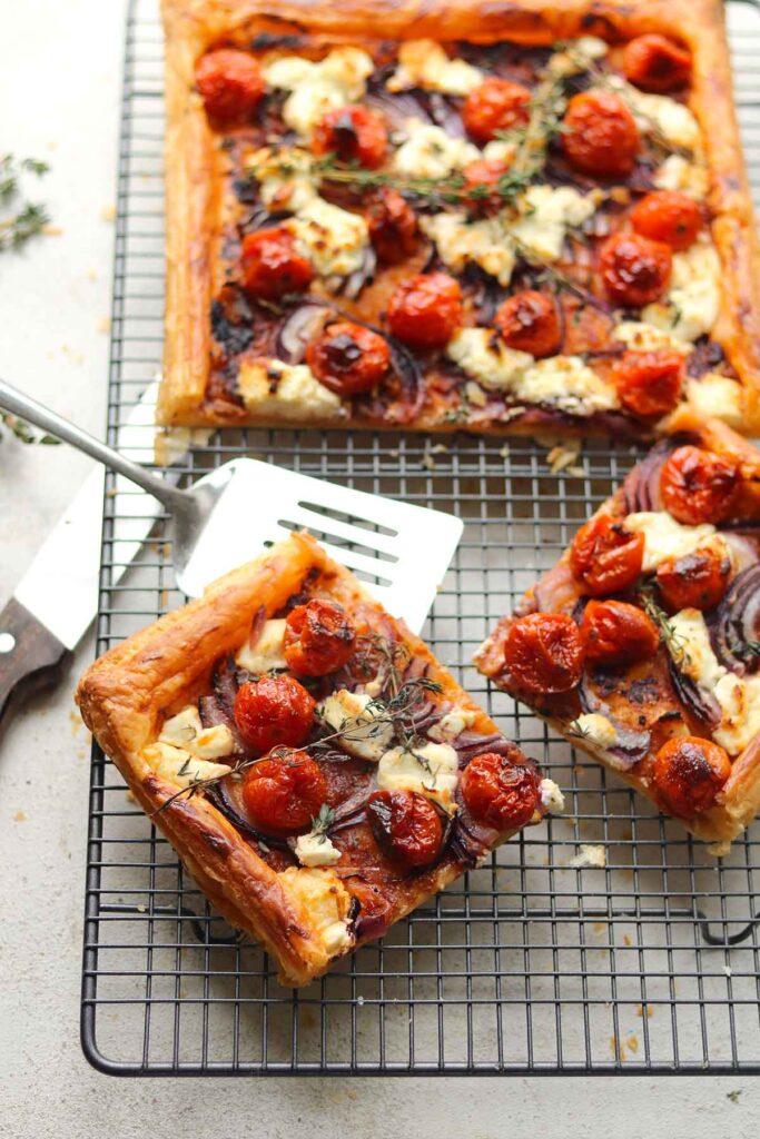 Goat's Cheese Tart with Cherry Tomatoes