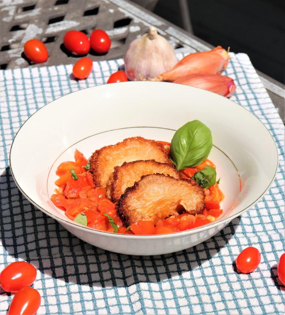 Lion's Mane Mushroom in Cherry Tomato Sauce
