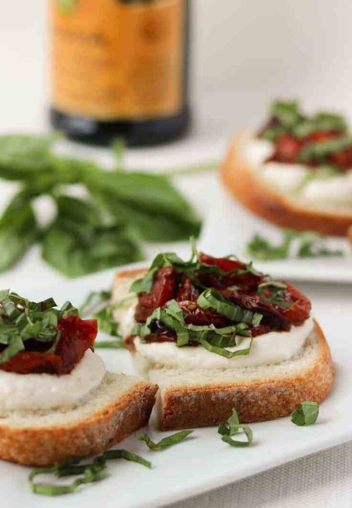 Roasted Tomato Jam Crostini