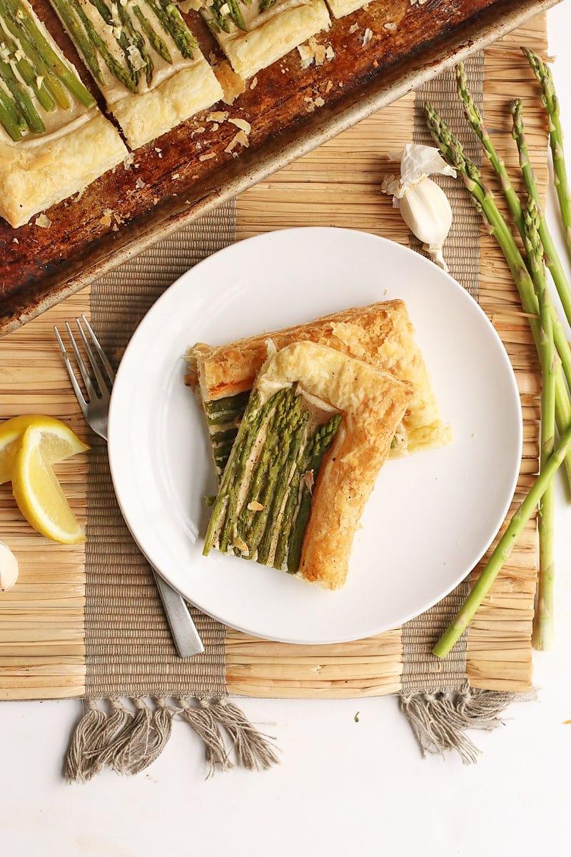 Vegan Cashew Cheese and Asparagus Tart