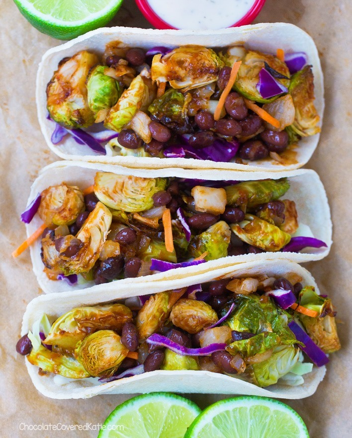 Barbecue Brussels Sprouts Tacos