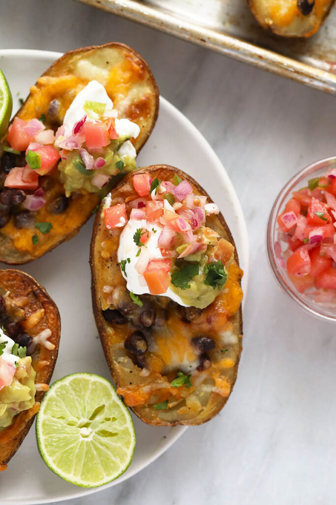 Vegetarian Mexican Potato Skins