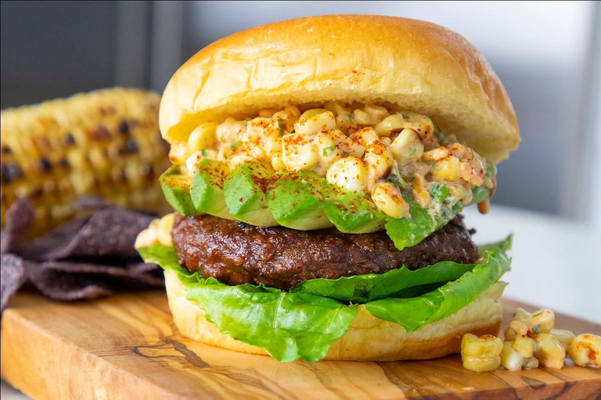 Beyond's Elote (Mexican Street Corn) Burger
