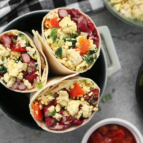 High Protein Vegan Breakfast Burrito Clean Green Simple