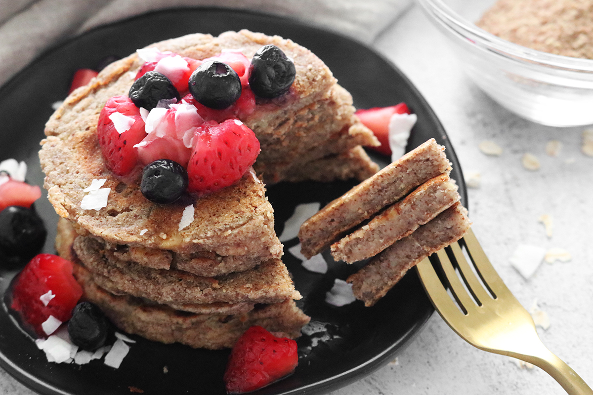 Low Carb Vegan Flaxseed Pancakes