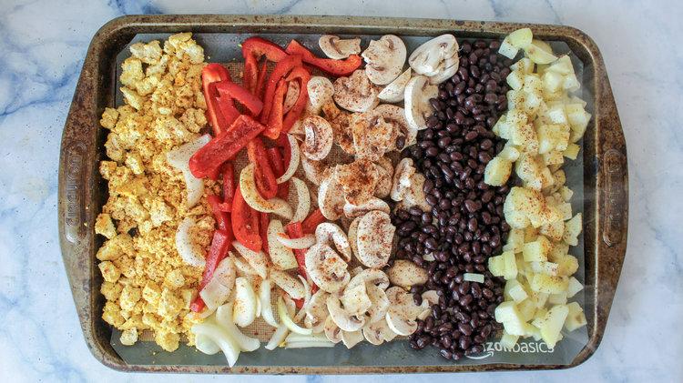 Sheet Pan Vegan Breakfast Burrito Bowl