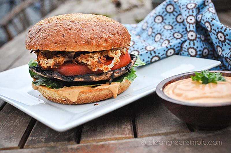 Vegan Portobello Mushroom Burgers