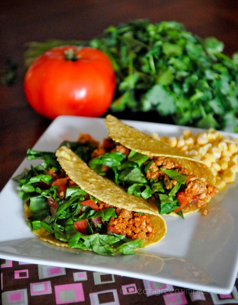 Walnut and Tempeh Tacos