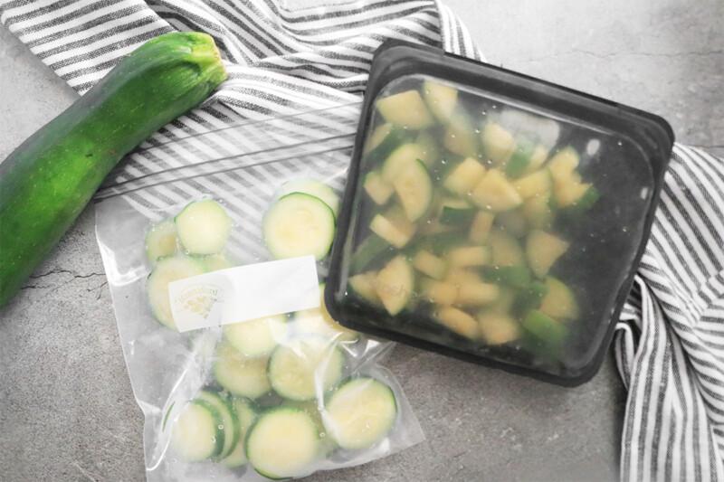 freezing zucchini in plastic bags