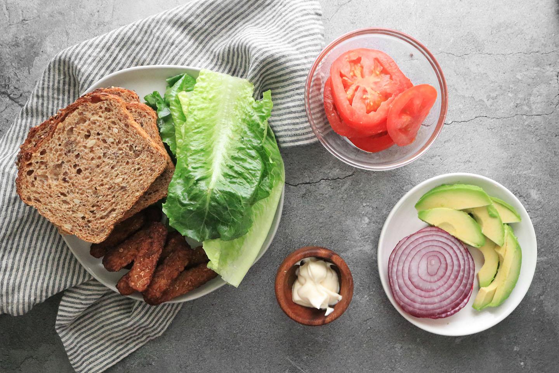 Vegan BLT ingredients