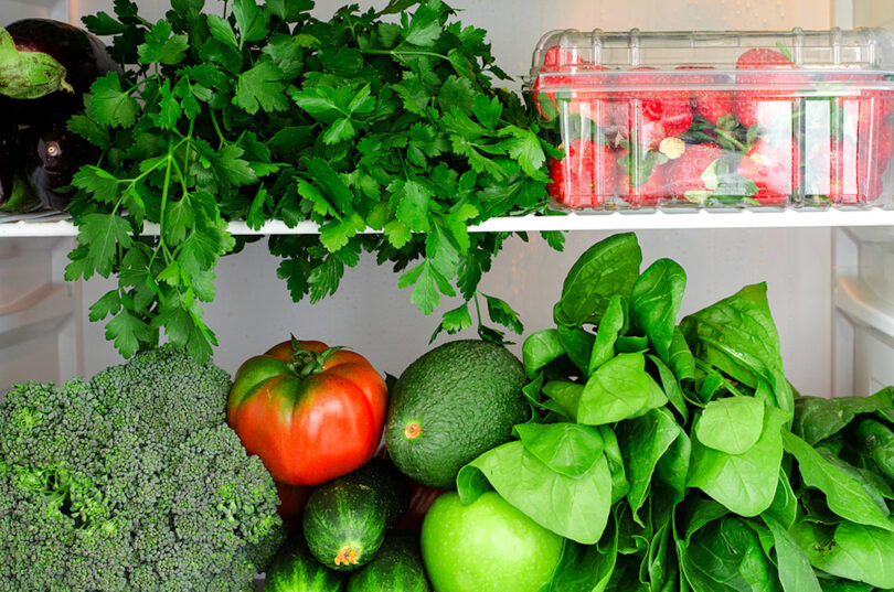 Herbs and Veggies in the Refrigerator