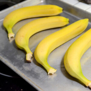 Quickly Ripen Bananas in the Oven