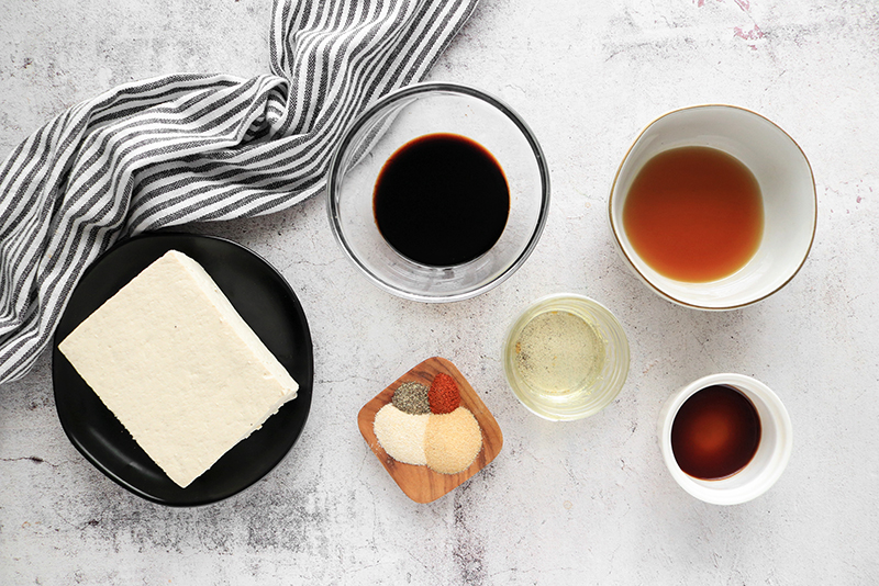 Tofu Bacon ingredients
